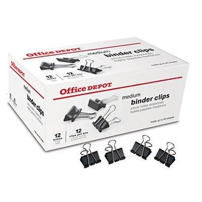 Office Depot Brand Binder Clips, Medium, 1 1/4