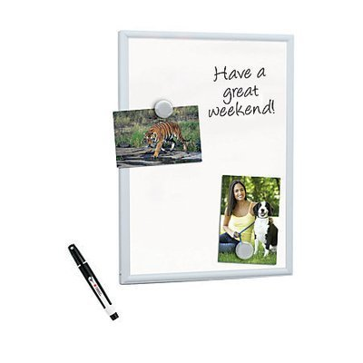 FORAY Mini Magnetic Dry-Erase Board With Aluminum Frame, 11