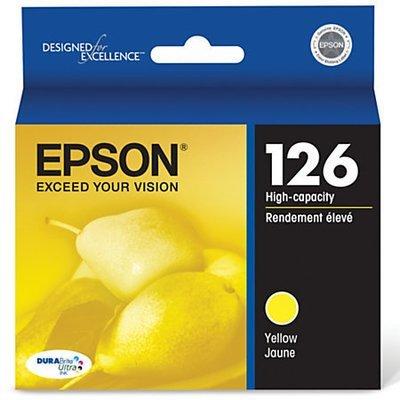 Epson® 126, (T126420) DuraBrite® Ultra High-Capacity Yellow Ink Cartridge