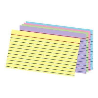 Office Depot® Brand Ruled Rainbow Index Cards, 3