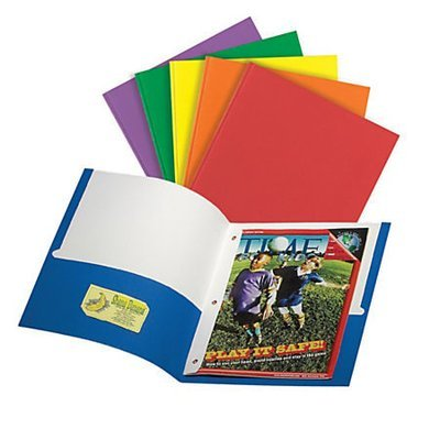 Office Depot® Brand 3-Prong Portfolio With 2 Pockets, Assorted Colors