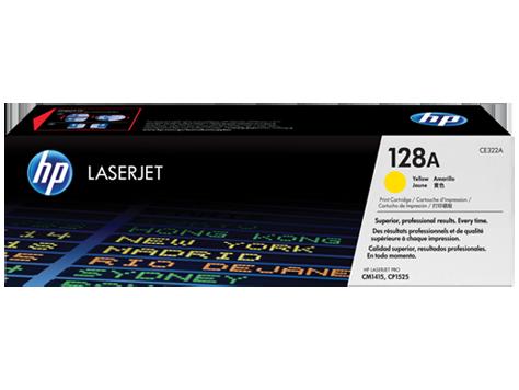 HP 128A, Yellow Original Toner Cartridge (CE322A)