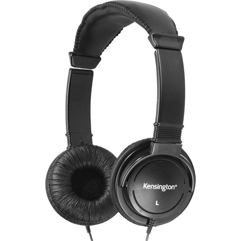 Kensington® Hi-Fi Over-The-Head Headphones, Black