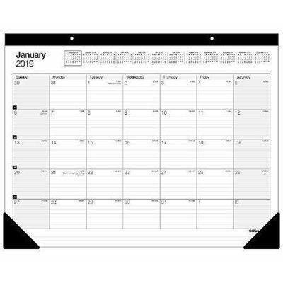 Office Depot® Brand Large Monthly Desk Pad Calendar, 22