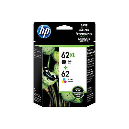 HP 62/62XL Black/Color Ink Cartridges Pack Of 2
