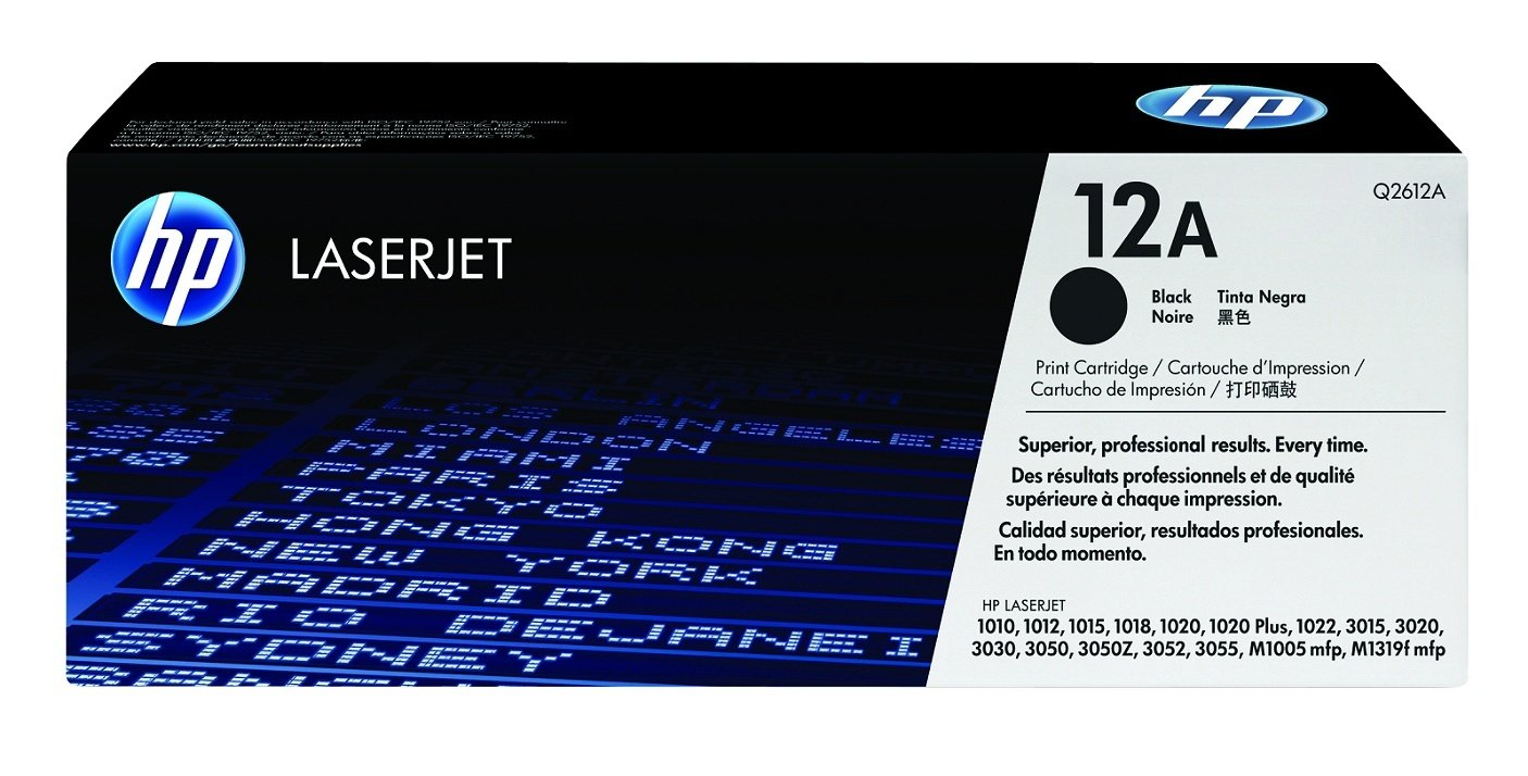 HP 12A Black Original Toner Cartridge (Q2612A)