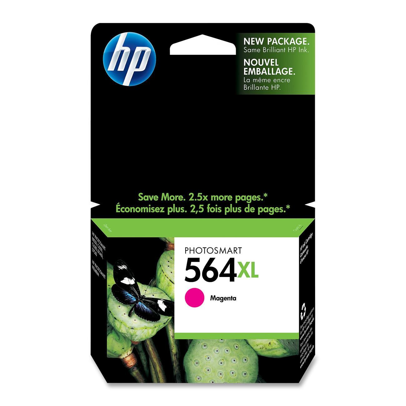 HP 564XL, Magenta Original Ink Cartridge (CB324WN)