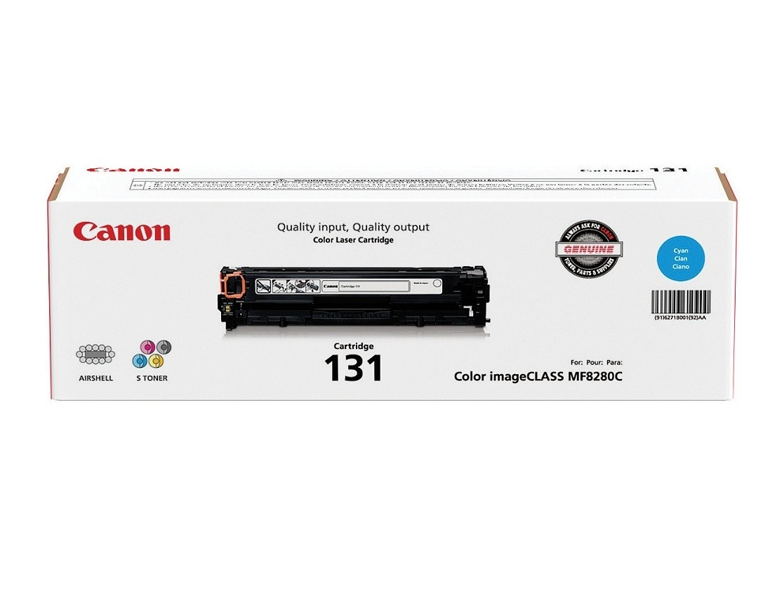Canon CRG 131 Cyan/Magenta/Yellow Toner Cartridges (6270B004AA), Pack Of 3