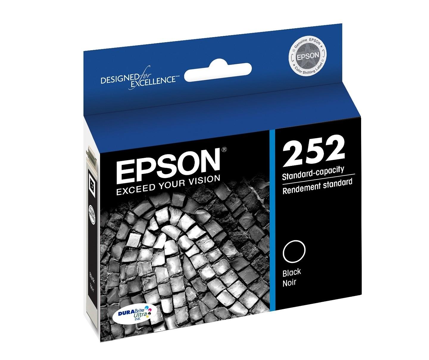 Epson DuraBrite 252 Ultra Standard-Capacity Black Ink Cartridge