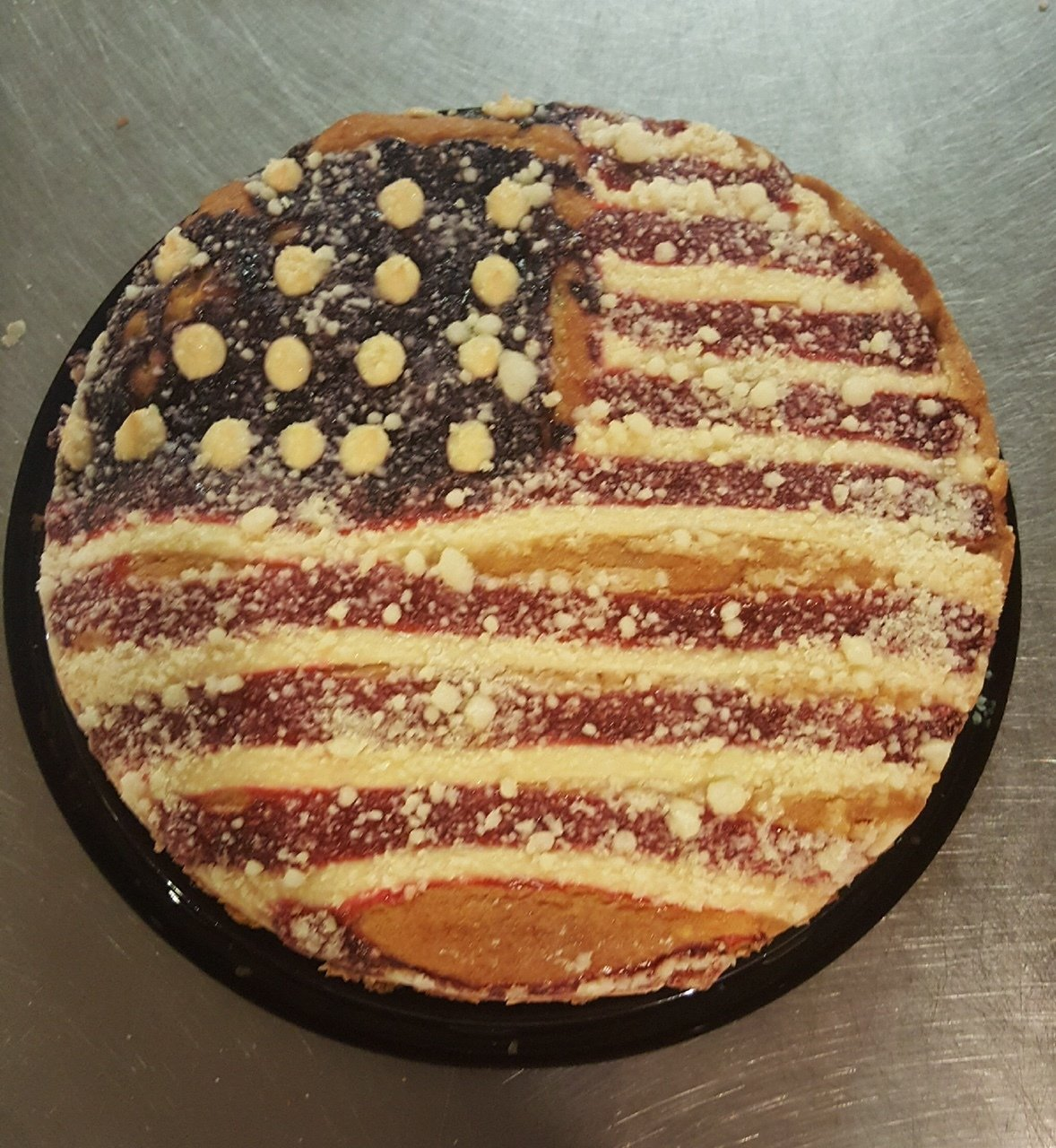 Fourth of July American Flag Cake 00090