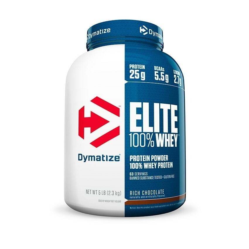 Dymatize Elite 100% Whey Protein - 5 lbs 705016560080(base)