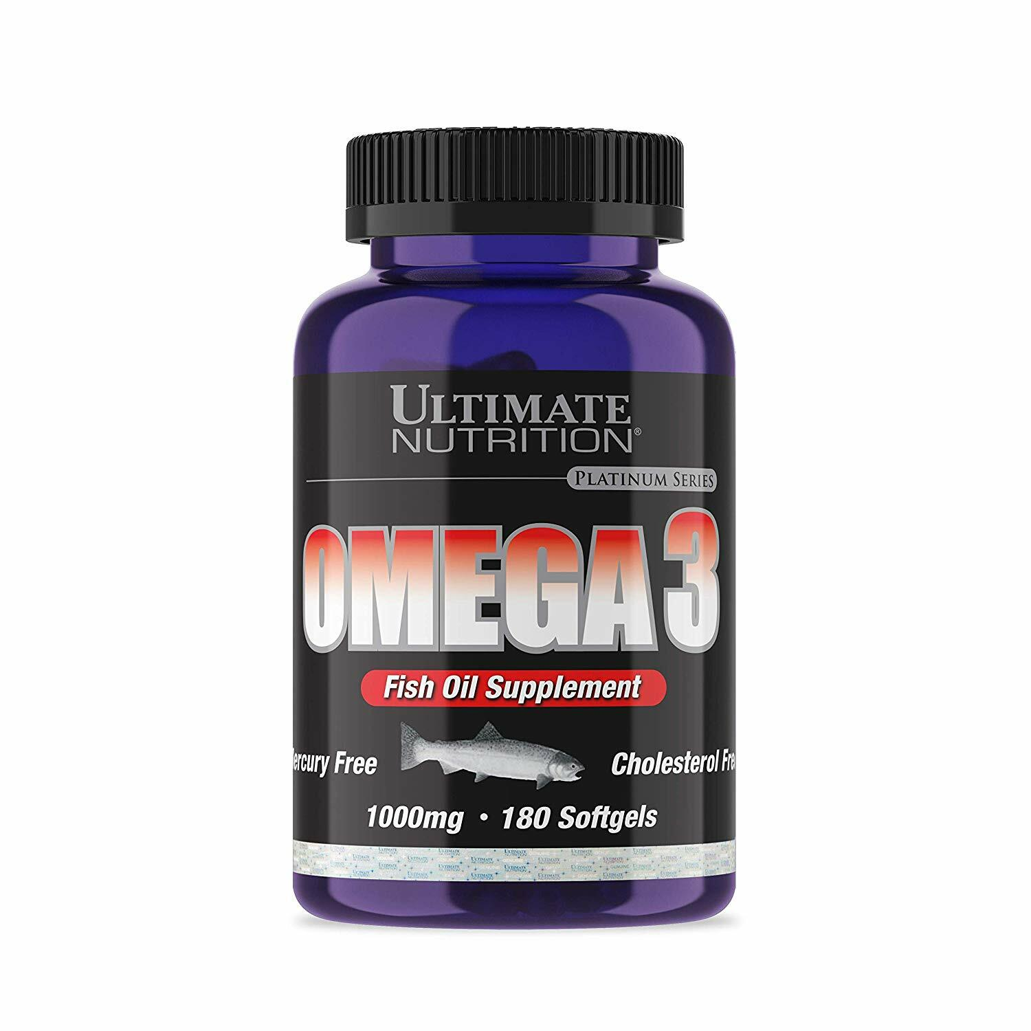 Ultimate Nutrition Omega 3 Fish Oil Softgels - 180 Softgels 99071006820