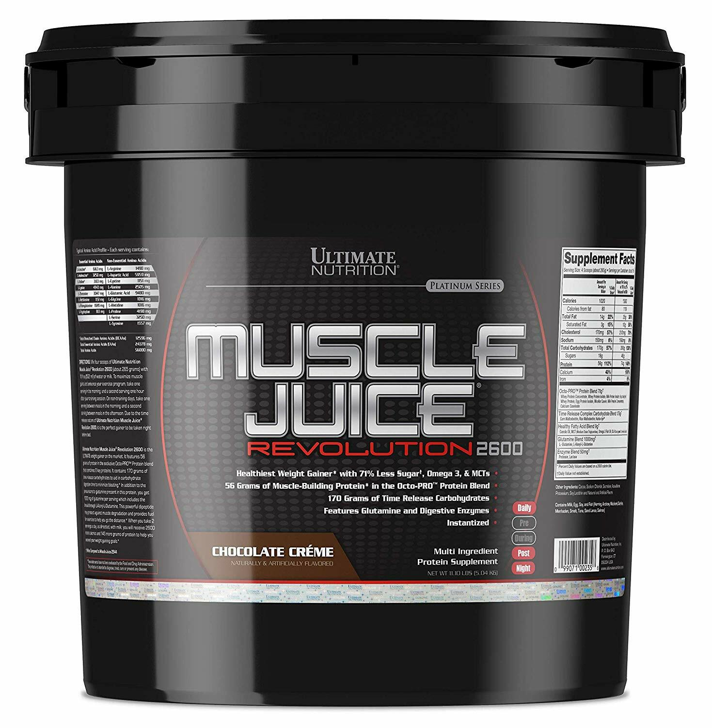 Ultimate Nutrition Muscle Juice Revolution 2600 11lbs 99071002358(base)