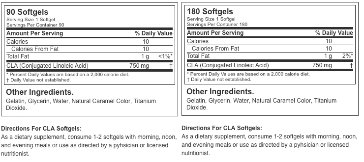 Optimum Nutrition CLA 750mg