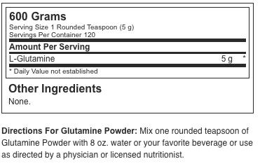 Optimum Nutrition Micronized Glutamine Powder