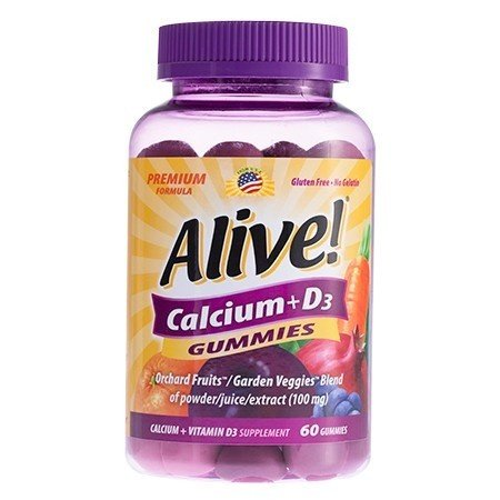 Alive Calcium + D3 Gummies 60ct 33674102558