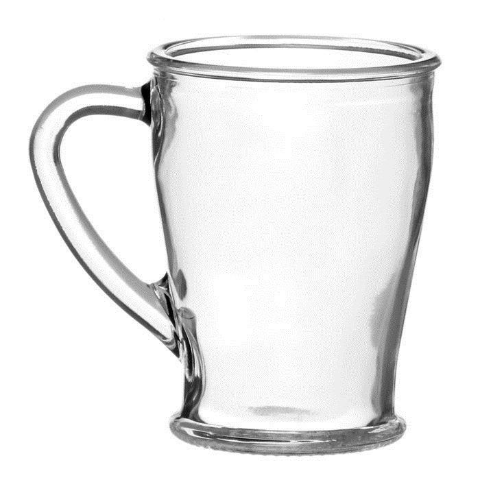 Кружка стекл 200мл 1шт без декора ЧайКофф П-73-200-ЕЧ 1/20 O33245