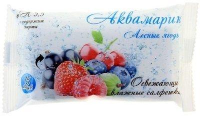 Салфетки влажные Аквамарин Лесные ягоды 15шт 1/120