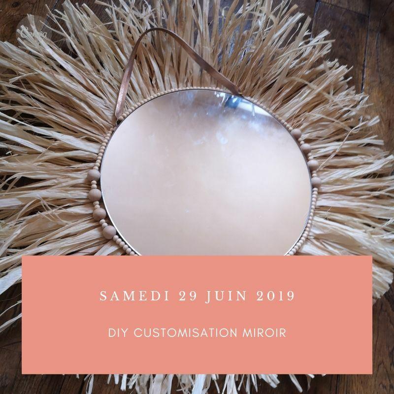 Atelier D.I.Y customisation miroir Raphia & Macramé Atelier D.I.Y customisation miroir Raphia & Macramé