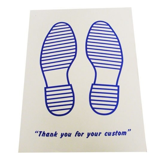 Paper Floor Mats With Company Logo: Printed Blue Feet Paper Car Floor Mats (250 Pack) 380 X 500mm