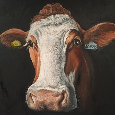 Close Up Cow 2 (A3)