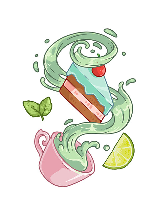 """Значок """"Зеленый чай"""""""