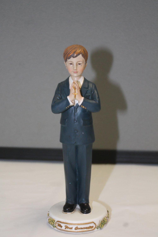 First Communion - Little Boy Statue