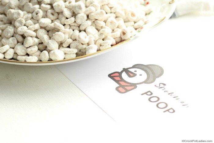 Snowman Poop Labels