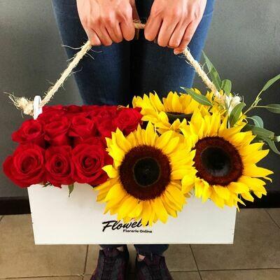 Gogh - Girasoles y Rosas Rojas