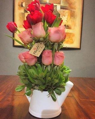Tulipanes con Rosas