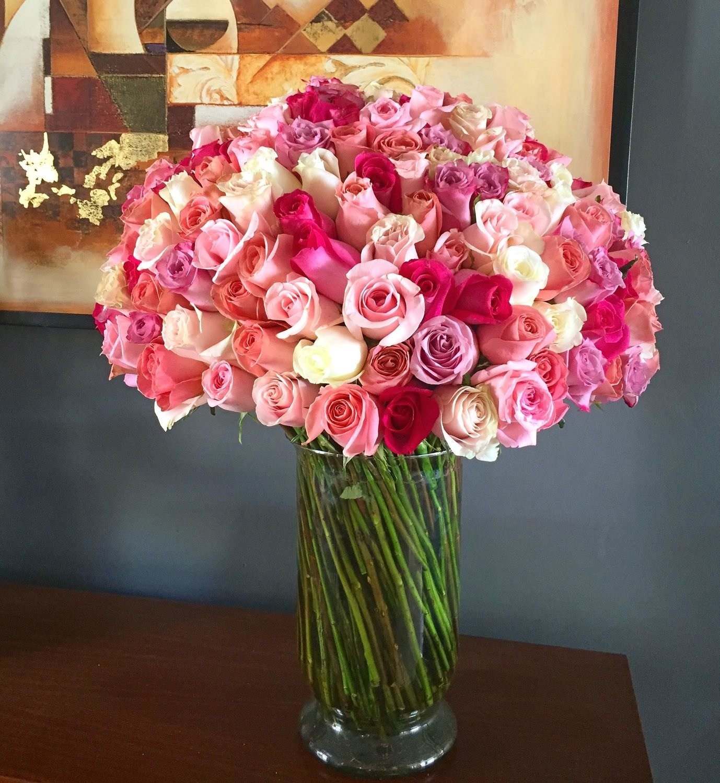 Jarron de 250 Rosas