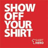 SHIRT HERO Shirt Display Mount (Red & White)