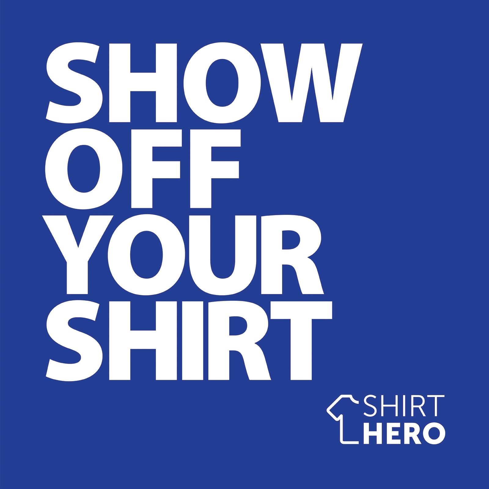 SHIRT HERO Shirt Display Mount (Blue & White)