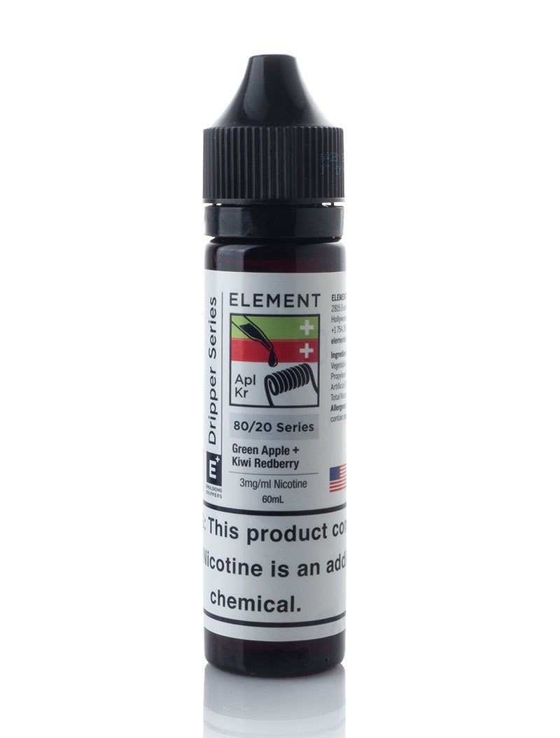 ELEMENTS EMULSIONS: GREEN APPLE + KIWI REDBERRY 60ML