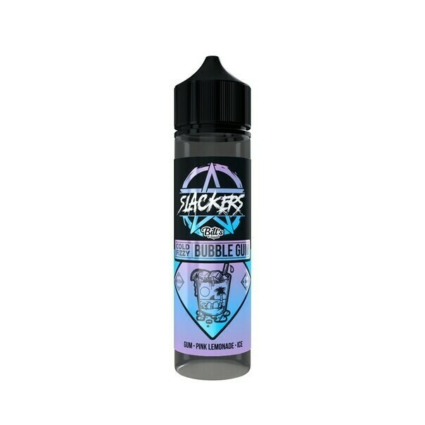 SLACKERS BY BILL'S E-lIQUID: COLD FIZZY BUBBLEGUM 60ML