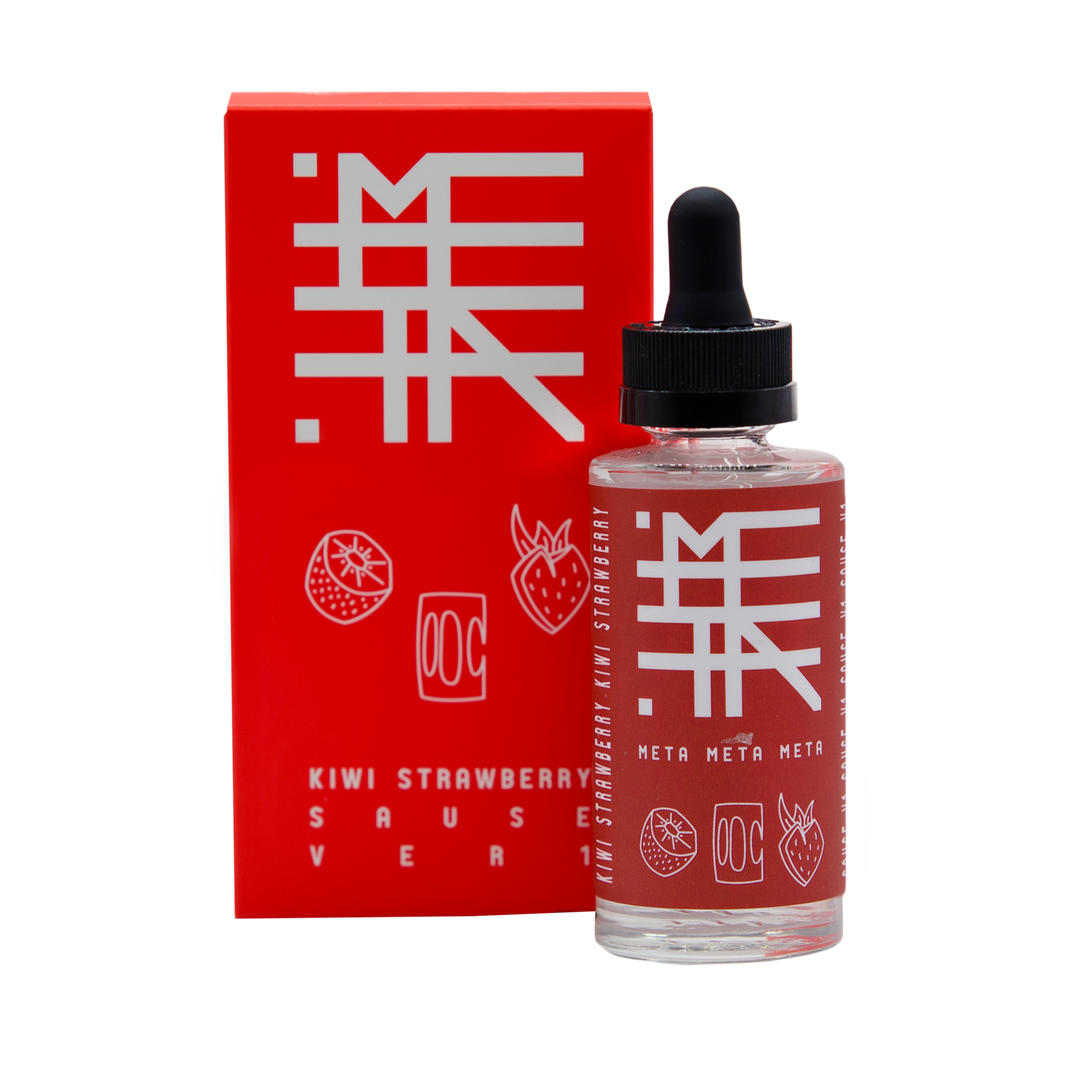 ЖИДКОСТЬ META BY DOCTOR GRIMES: KIWI STRAWBERRY SAUCE 60ML