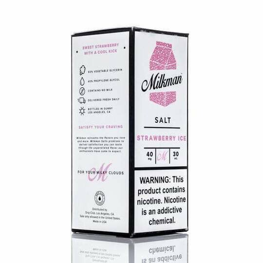 ЖИДКОСТЬ THE MILKMAN SALT: STRAWBERRY ICE 30ML