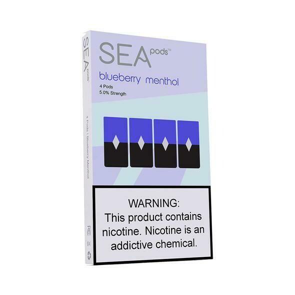 SEA PODS: BLUEBERRY MENTHOL СМЕННЫЕ КАРТРИДЖИ ДЛЯ JUUL 2 ШТ