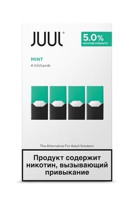 JUUL: MINT СМЕННЫЕ КАРТРИДЖИ 4ШТ