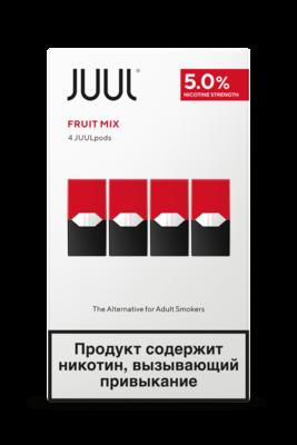 JUUL: FRUIT MIX СМЕННЫЕ КАРТРИДЖИ 4ШТ