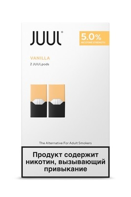 JUUL: СМЕННЫЙ КАРТРИДЖ ВАНИЛЬ X2