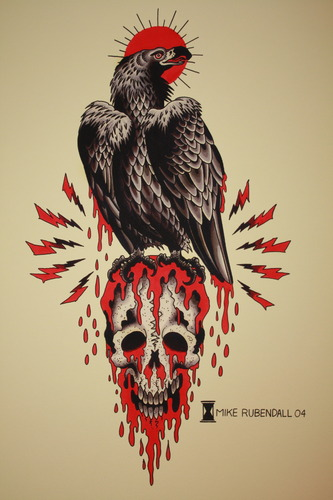 Mike Rubendall: Vulture and Skull 00012