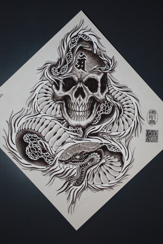Mike Rubendall: Diamond Skull and Snake 00015