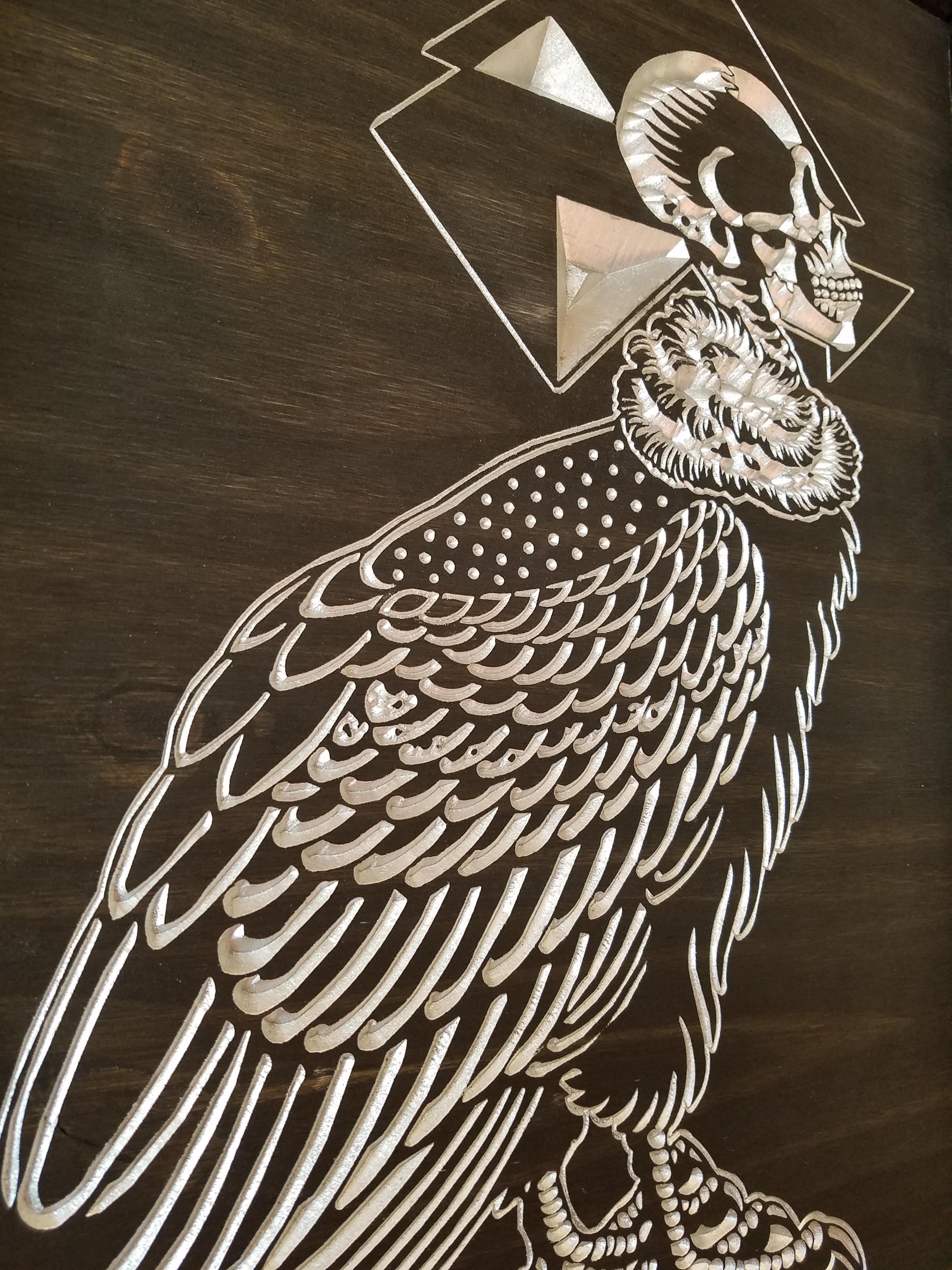 Silent Flight Wood Carving