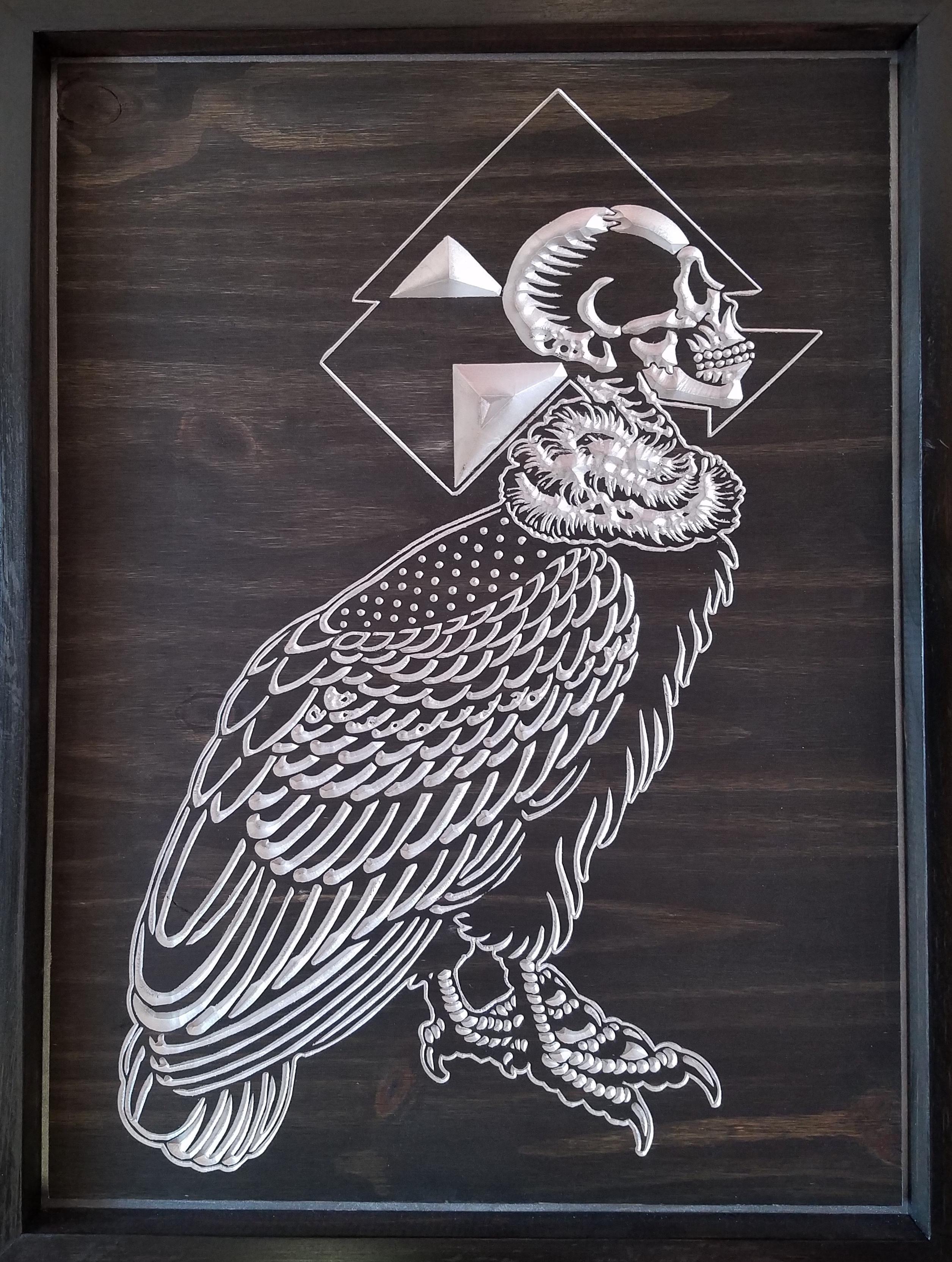 Silent Flight Wood Carving 00161