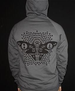 Moth Pullover Sweatshirt: Asphalt Gray 00070