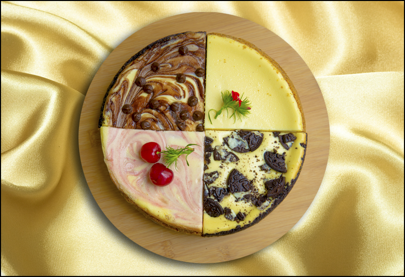 Four-Way Cheesecake Sampler