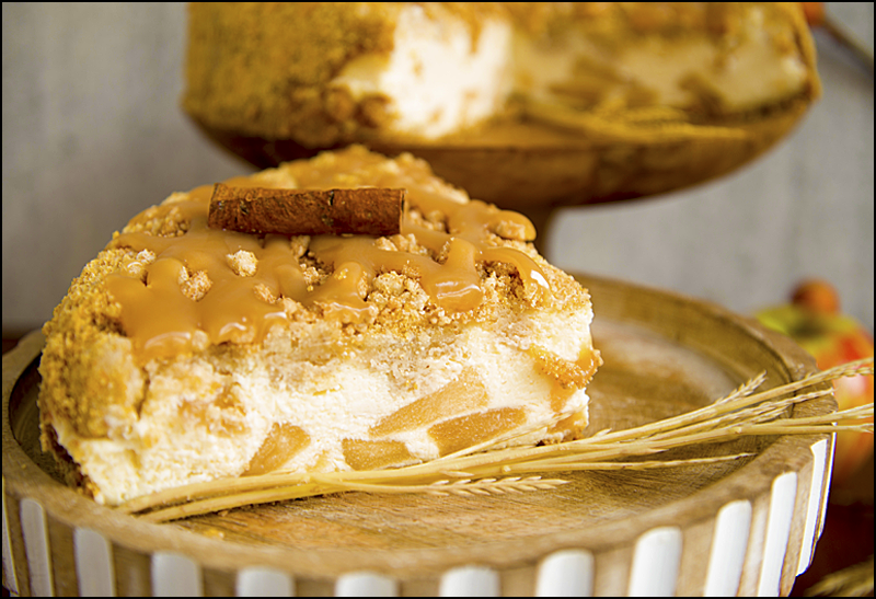 Caramel Apple Crumb Cheesecake