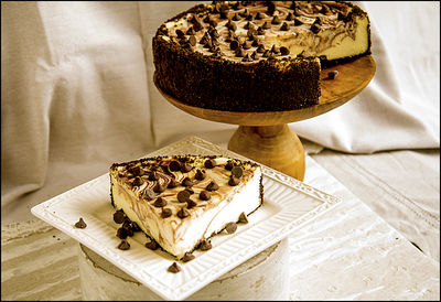 Marble Chocolate Chip Cheesecake