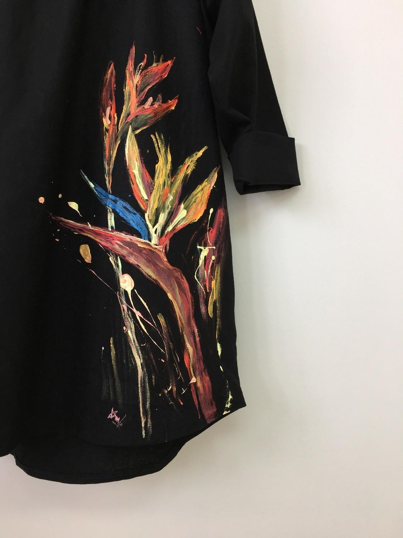 LINEN BLACK DRESS #1 *SOLD*